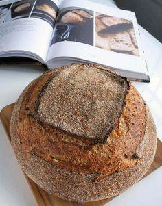 Tartine Sesame Country Bread. Recipe was from Chad Robertson's Tartine Bread.