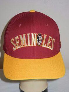 3e7f02dd2b6 VTG Florida State Seminoles FSU fitted 7 3 8 baseball hat cap Starter   Starter