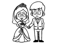 the bride and groom coloring page coloringcrew printable coloring pages 1 - Bride And Groom Coloring Pages