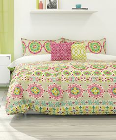 Take a look at this Peony Bliss Duvet Cover Set today!