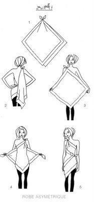 Scarf shirt dress