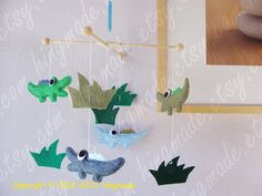 On Sale Baby Mobile Alligator Mobile Animals Felt by hingmade