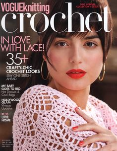 MAGAZINE: Vogue Knitting Crochet 2013 ♥LCB-MRS♥ no diagrams, all written patterns. But is a treat to all whom like to read patterns. Vogue Knitting, Knitting Books, Crochet Books, Crochet Gratis, Crochet Chart, Crochet Stitches, Free Crochet, Knitting Patterns Free, Free Knitting