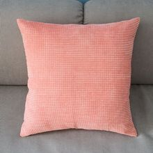 """Corn kernels Corduroy Pink Pillow Case Home Office Sofa Decor Cushion Cover Square 43cm 17*17"""" High Quality Wholesale PT166(China (Mainland))"""