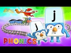 Phonics - Journey Through the Alphabet! | Learn to Read | Alphablocks - YouTube Phonics Sounds, Letter J, Learn To Read, Alphabet, Kindergarten, Journey, Teaching, Cartoon, Youtube