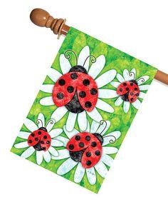 Look at this #zulilyfind! Ladybugs & Daisies Flag #zulilyfinds