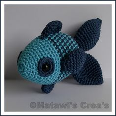 Crochet fish. Instructions in dutch.