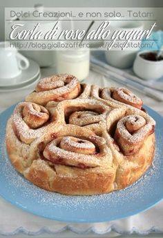 Torta di rose allo yogurt   pan brioche senza burro http://blog.giallozafferano.it/idolciditatam/torta-di-rose-allo-yogurt/