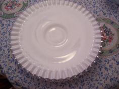 Fenton Milkglass Cake Plate   Low Pedestal by FabVintageEstates