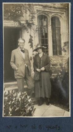 William Butler Yeats; Bertha Georgie Yeats (née Hyde-Lees),by  Lady Ottoline Morrell