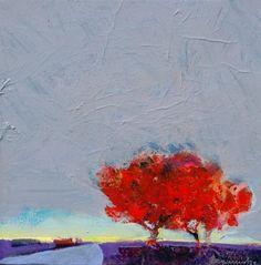 Red Tree Morning - Art collection by Robert Burridge