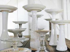 Pillar Candle Holders Repurpsed from Vintage Tea Plates, Bud Vases & Candlesticks by 508 Restoration & Design, via Flickr...gorgeous!