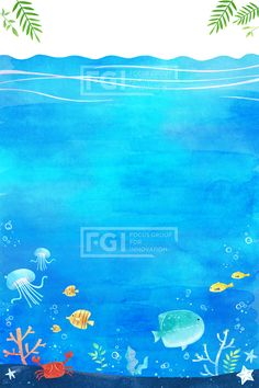 SPAI206, 프리진, 일러스트, 수채화, 물감, 브러쉬, 종이, 디자인소스, 배경, 바탕, 백그라운드, 텍스처, 그림, 여름, 시즌, 계절, 청량, 밝음, 엽서, 편지, 편지지, 카드, 장식, 프레임, 물, 바다, 바다속, 풍경, 물결, 잠수, 물놀이, 감성, 여름배경, 물고기, 산호, 식물, 물풀, 물방울, 여행, 자연, 휴식, 피서, 힐링, 시원한, 드로잉, 동화, 동심, 바캉스, 여름풍경, 바다풍경, 파랑, 하늘색, 블루, 그린, 녹색, 연두, 빨강, 노랑, 수면, 파도, 해파리, 개복치, 열대어, 꽃게, 게, 불가사리, 나뭇잎, SPAI206b,#유토이미지 Sea Illustration, Childrens Hospital, Make Design, Marine Life, Under The Sea, Projects For Kids, Artsy Fartsy, Underwater, Art For Kids