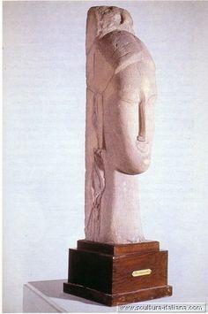Amedeo Modigliani -  Testa femminile (Parigi, Centro Pompidou, 1911-12).jpg