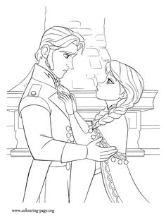 Disney Frozen Anna Coloring Page S