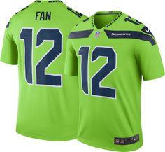 Nike Men s Color Rush Seattle Fan  12 Legend Jersey 3a7a7be75