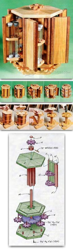 Plans of Woodworking Diy Projects - Rotary Box Plans - Woodworking Plans and Projects | WoodArchivist.com Get A Lifetime Of Project Ideas & Inspiration! #woodworkingplans