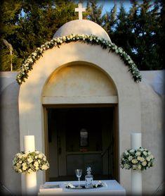Arch Flowers, Church Wedding Decorations, Greece Wedding, Orthodox Icons, Wedding Locations, Wedding Trends, Flower Arrangements, Wedding Planning, Floral Arrangements