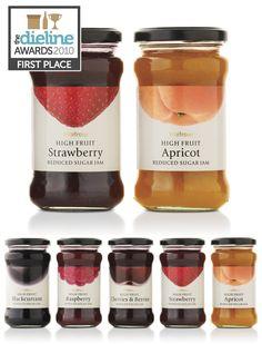 Label / Waitrose High Fruit Jams PD