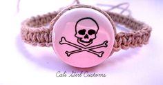 Skull hemp bracelet / hemp jewelry / gifts for by CaliGirlCustoms