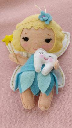 Fadinha fairy feltro felt dente tooth                                                                                                                                                      Mais