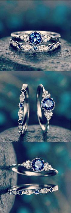 Zarcillos De Herradura Plata Esterlina Con Cristales-Aqua Azul-en Caja De Regalo