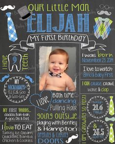 Mr. ONEderful Birthday Chalkboard, Bow Ties, Bowtie, Little Man, TIECHALK0520