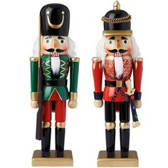 Wooden Nutcracker Soldiers Christmas Decorations (2 Pack) (1,640 PHP) ❤ liked on Polyvore featuring home, home decor, holiday decorations, christmas figure, christmas home decor, wood figurine, christmas nut cracker and wooden nut cracker
