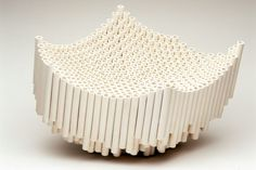 Tube sculptures, ceramics - Stine Jespersen - Ceramic artist