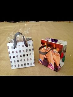 Mini Catalog Bags DIY - Jamberry Style, great for direct sale companies! www.frost.jamberrynails.net