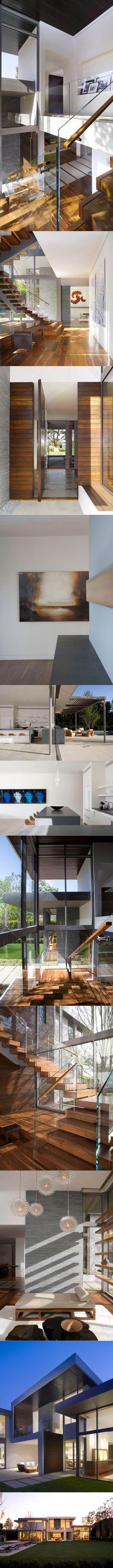 2011 Belzberg - Brentwood Residence / Los Angeles USA / wood stone / white grey
