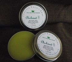 Chickweed Organic Salve An effective salve for soothing and calming itchy, inflamed and irritated skin conditions such as eczema and psoriasis.