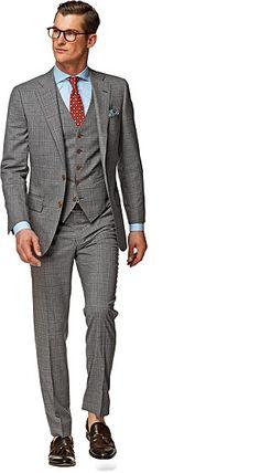 Suit_Light_Grey_Check_Lazio_P3802I