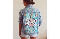Cool Hand painted Denim Jackets (Russia)