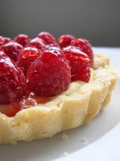 Raspberry Tart with Vanilla Cream - A wonderful combination . . .  raspberry and vanilla cream.