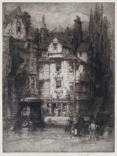 E. Hedley Fitton (British: 1857 – 1929): John Knox's House, 1909