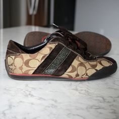 Coach brown c's Tennis shoes - 10M In good condition. Coach Shoes Sneakers