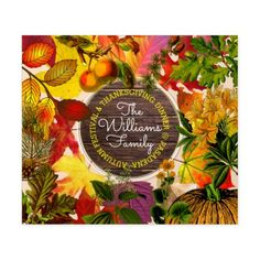 Fall Autumn Leaves Collage Monogram Vintage Wood Beer Bottle Label - red gifts color style cyo diy personalize unique