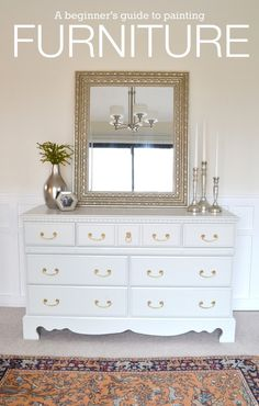 LiveLoveDIY: How To Paint Furniture: why it's easier than you think!