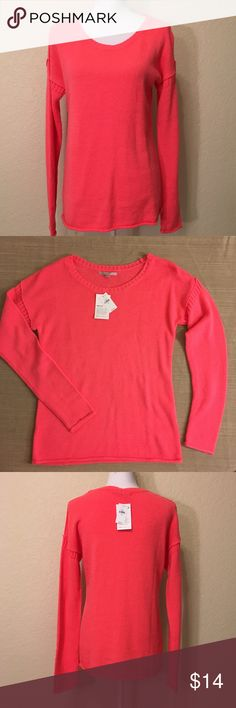 """NWT Gap Neon Coral Sweater NWT Gap Neon Coral Sweater.  Size M.  MSRP $40.  Length from top of shoulder to hem: 26"""".  Sleeve length: 26"""".  Cuff width: 4"""".  Bust: 38"""".  Waist: 34"""".  Bottom of sweater: 38"""" around.  80% acrylic, 14% wool, 6% nylon.  Machine wash cold.    Love it but not the price - I'm open to (reasonable) offers or consider bundling 2 or more items for an additional 15% off and combined shipping!    Check out my reviews - I only sell great quality items! GAP Sweaters Crew…"""