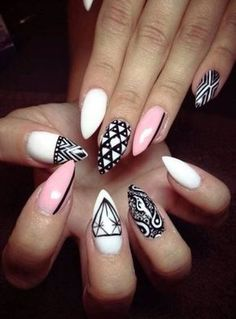 #White #Pink #Black #CatClaws #Diamonds #Stripe #Bandana #Triangle #Aztec
