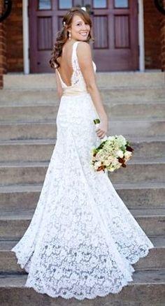 Bridal inspiration. Hair & dress.