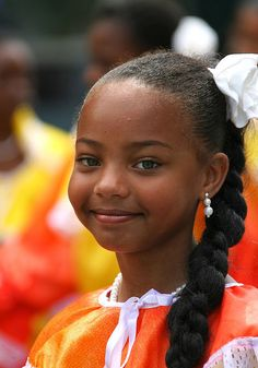 So adorable!! Girl from Suriname - Republic of Suriname, a country in northern South America. It borders French Guiana, Guyana, Brazil and the Atlantic Ocean.
