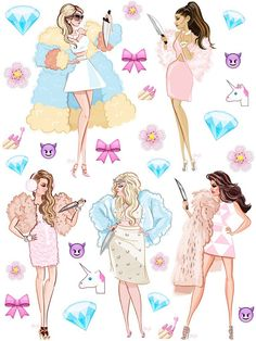 Tumblr sticker sheet  Scream Queens  Planner Stickers