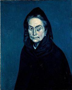 Picasso's blue period (La Celestina, 1904)