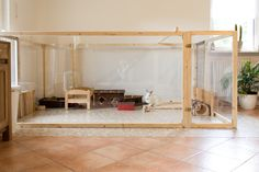 Nice spacious bunny home. If it had lots more hay it would be perfect http://best4bunny.com/