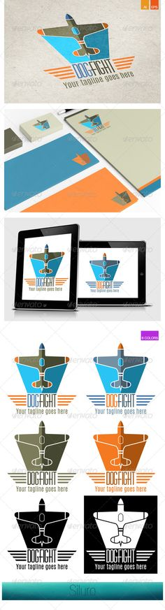 DogFight Logo — Vector EPS #fly #airport • Available here → https://graphicriver.net/item/dogfight-logo/8168932?ref=pxcr