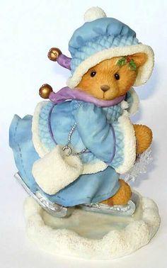 Heidi´s Cherished Teddies Galerie: CANDACE - Skating On Holiday Joy (269778) Tatty Teddy, Boyds Bears, Teddy Bears, Clay Bear, Cute Bears, Childhood Memories, Smurfs, Dinosaur Stuffed Animal, Pasta Flexible