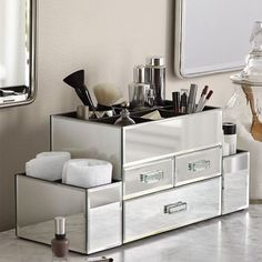 Free Shipping. Buy OnDisplay Amara 3 Drawer Tiered Silver Mirrored Makeup/Jewelry Organizer at Walmart.com