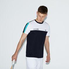 Lacoste Men's Sport Crew Neck Colorblock Piqué Tennis T-Shirt - Pomelo/Navy Blue-White Xxl 7 Green Gents T Shirts, Polo Tee Shirts, Lacoste Sport, Lacoste Men, Polo Shirt Design, Tennis, Mens Activewear, Sport T Shirt, Shirt Shop